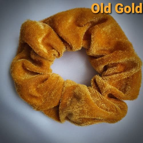 Old Gold Velvet Scrunchie