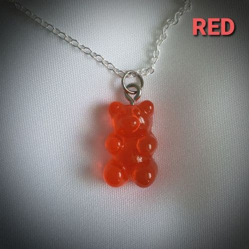 Red Gummy Bear Necklace