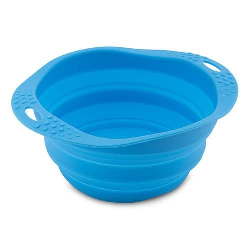 Beco Collapsible Dog Travel Bowl Blue