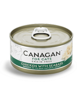 Canagan Wet Cat Food: Chicken with Seabass 12x75g