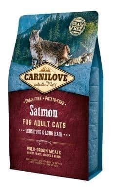 Carnilove Cat Food: Adult Salmon 6kg (Damaged Bag)