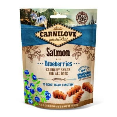 Carnilove Crunchy Dog Treats Salmon with Blueberries 200g