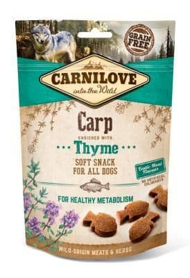 Carnilove Semi Moist Dog Treats Carp with Thyme 200g