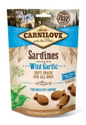 Carnilove Semi Moist Dog Treats Sardines with Wild Garlic 200g