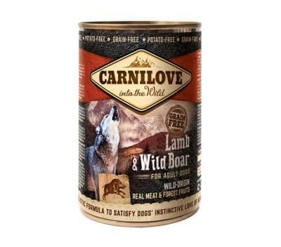 Carnilove Wet Dog Food: Adult Lamb & Wild Boar 6x400g