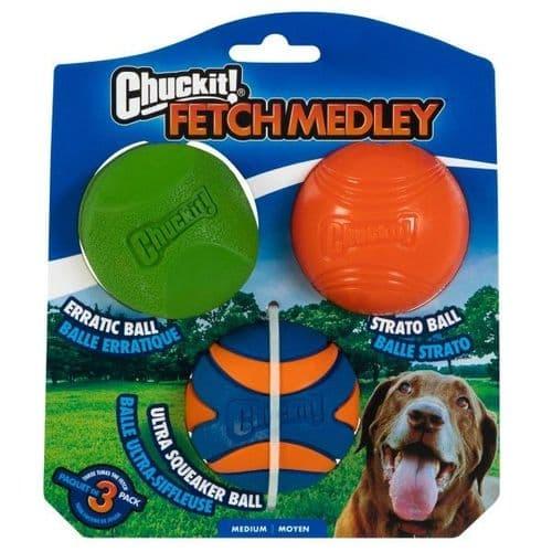 Chuckit! Fetch Medley 2 Assorted Medium 3pk