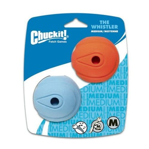 Chuckit! The Whistler Ball Medium 2pk