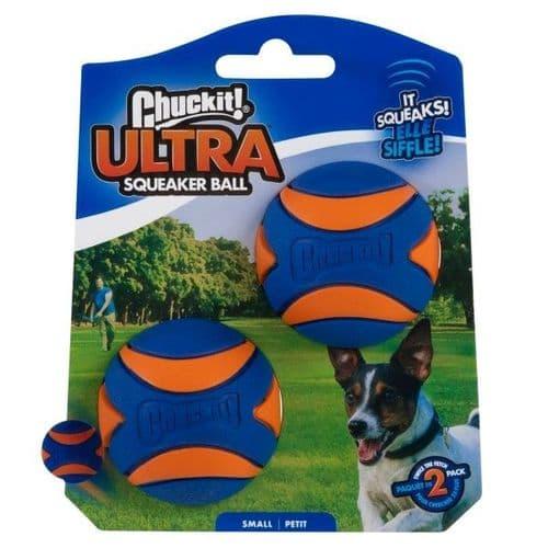 Chuckit! Ultra Squeaker Ball Small 2pk