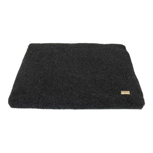 Earthbound Cage Mat Removable Sherpa Waterproof Black