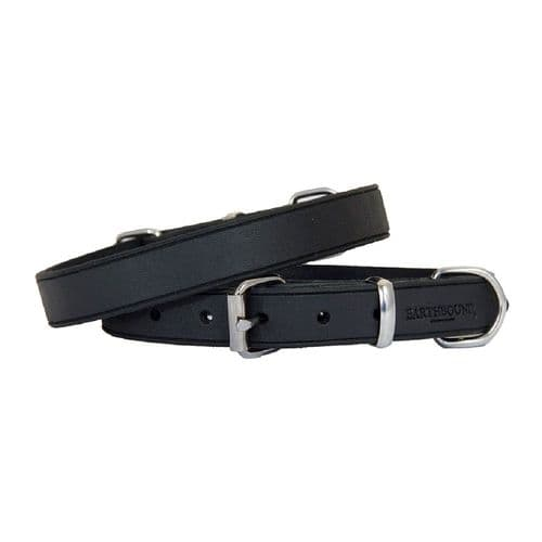 Earthbound Soft Country Leather Black Collar