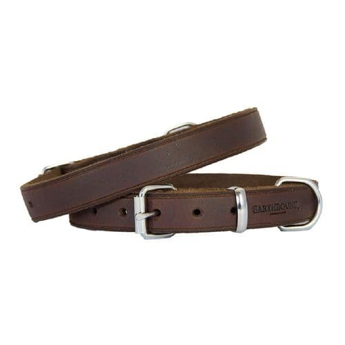 Earthbound Soft Country Leather Brown Collar