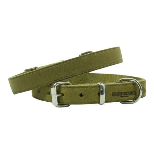 Earthbound Soft Country Leather Green Collar