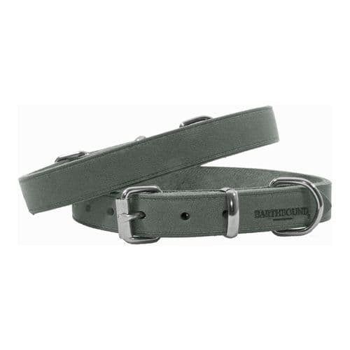 Earthbound Soft Country Leather Grey Collar
