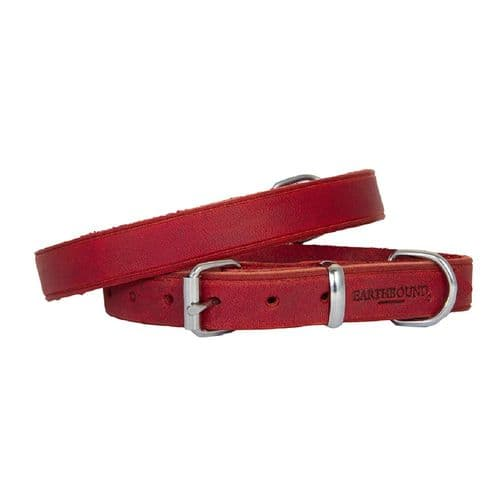 Earthbound Soft Country Leather Red Collar