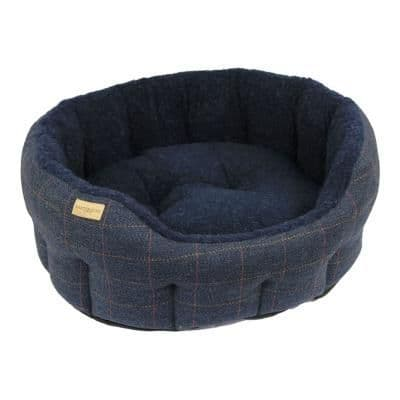 Earthbound Traditional Tweed Bed Navy
