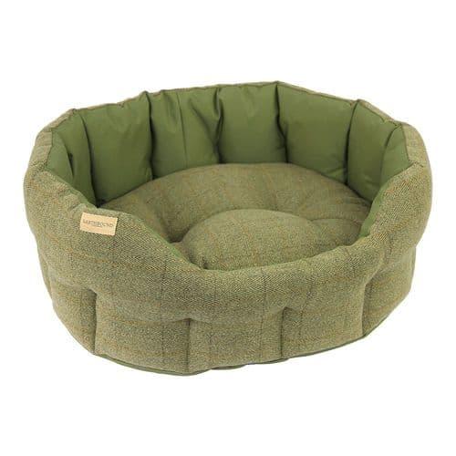 Earthbound Traditional Tweed & Waterproof Bed Green