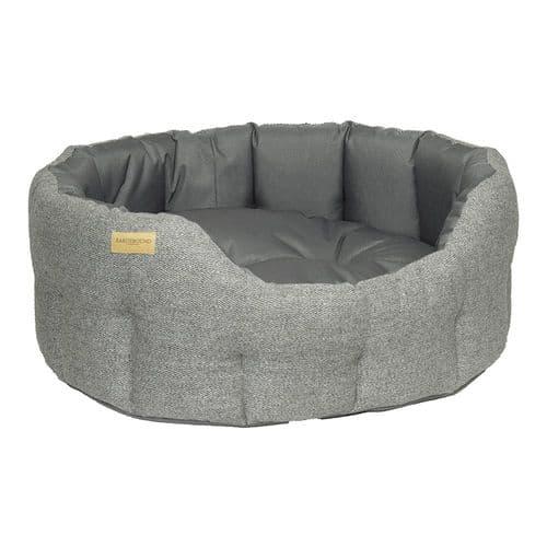 Earthbound Traditional Tweed & Waterproof Bed Steel Grey
