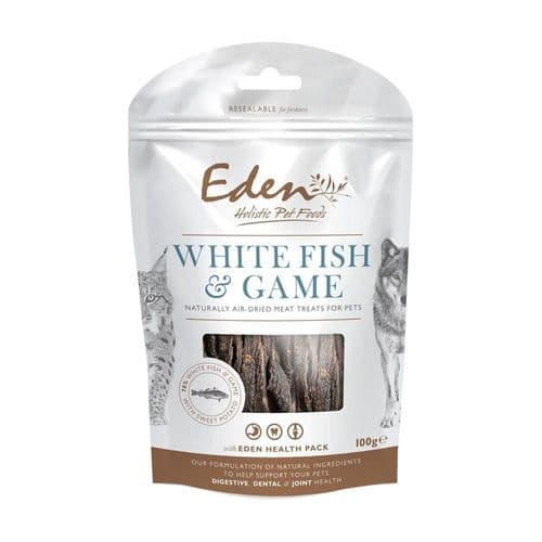 Eden Dog & Cat Treats White Fish with Game 100g