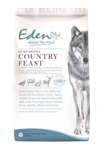 Eden Semi Moist Dog Food: 60/40 Country Feast
