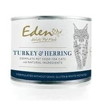 Eden Wet Cat Food: Turkey and Herring 6x200g