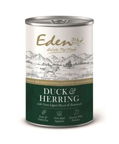 Eden Wet Dog Food: Duck & Herring 400g