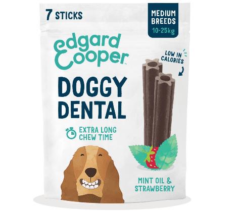 Edgard & Cooper Dental Sticks Strawberry & Mint Medium Dog 7pk