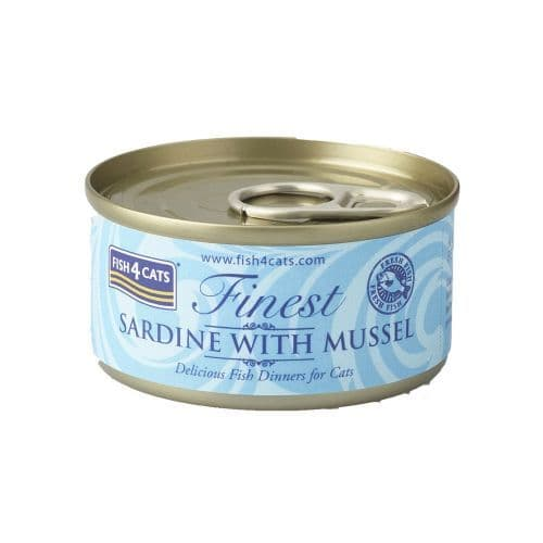 Fish4Cats Wet Food: Sardine with Mussels 10x70g