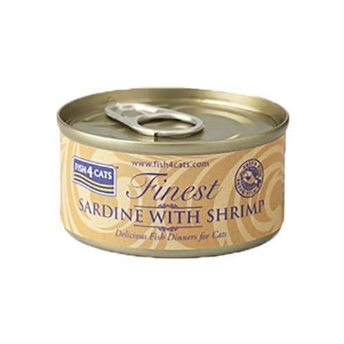 Fish4Cats Wet Food: Sardine with Shrimp 10x70g