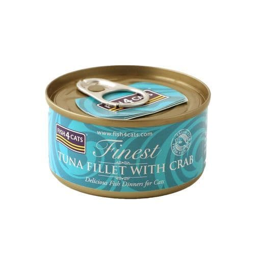 Fish4Cats Wet Food: Tuna Fillet with Crab 10x70g