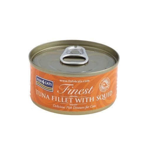 Fish4Cats Wet Food: Tuna Fillet with Squid 10x70g
