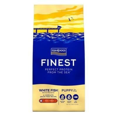Fish4Dogs Dog Food: Puppy Finest White Fish Small Kibble
