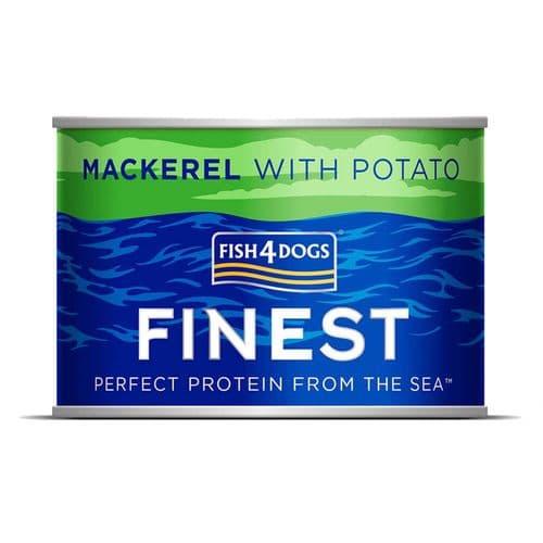 Fish4Dogs Wet Dog Food: Mackerel with Potato 185g