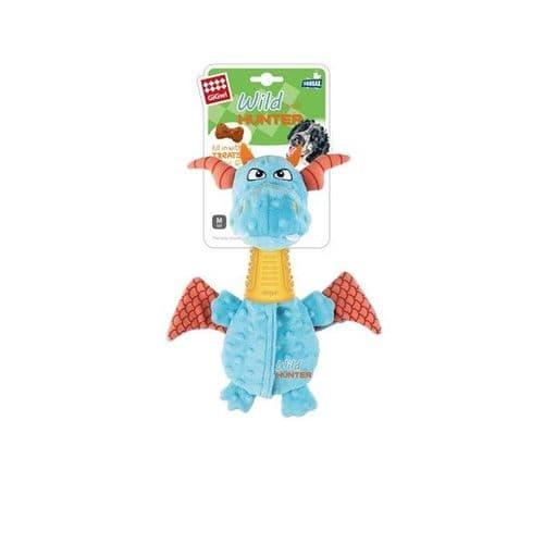 GiGwi Dragon Plush Dog Toy with TPR Neck