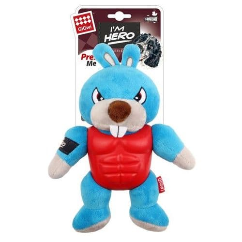GiGwi I'm Hero TPR Armor Rabbit with Squeaker