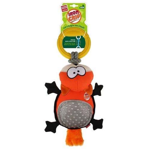 GiGwi Iron Grip Fox Plush Tug Toy with TPR Handle