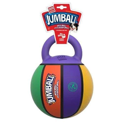 GiGwi Jumball Basketball Ball with Handle Multi