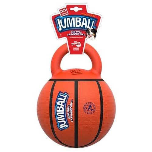 GiGwi Jumball Basketball Ball with Handle Orange