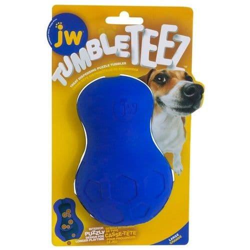 JW Tumble Teez Treat Toy Blue Large