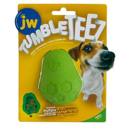 JW Tumble Teez Treat Toy Green Small