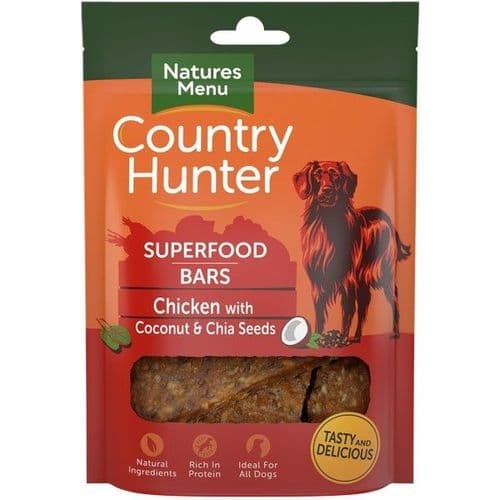 Natures Menu Country Hunter Superfood Bars Chicken 100g