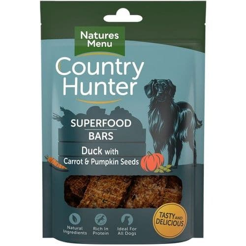 Natures Menu Country Hunter Superfood Bars Duck 100g