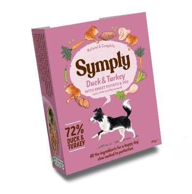 Symply Wet Dog Food: Adult Duck & Turkey with Sweet Potato 7x395g