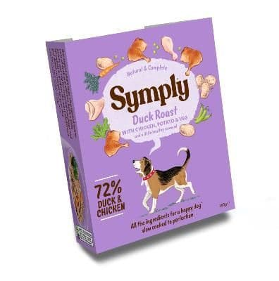 Symply Wet Dog Food: Adult Duck with Chicken & Potato 7x395g
