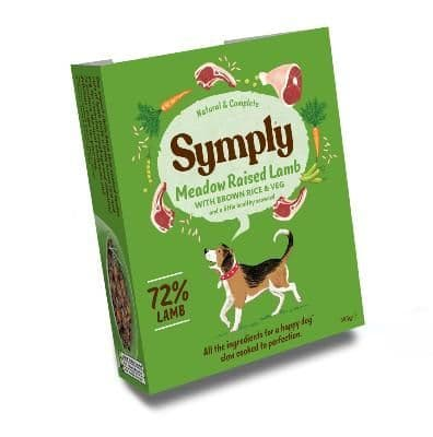 Symply Wet Dog Food: Adult Lamb with Brown Rice 7x395g