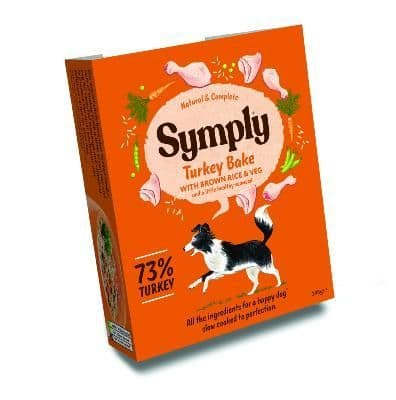 Symply Wet Dog Food: Adult Turkey with Brown Rice 7x395g