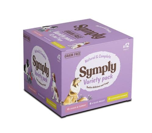 Symply Wet Dog Food: Variety Pack Grain Free 12x395g