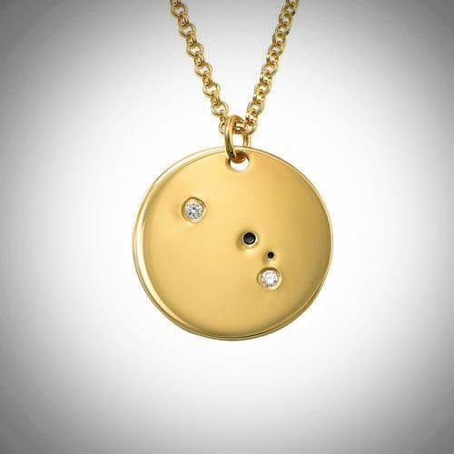 18ct Yellow Gold Plated Zodiac Aries Constellation Diamond Necklace
