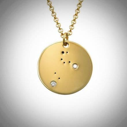 18ct Yellow Gold Plated Zodiac Leo Constellation Diamond Necklace