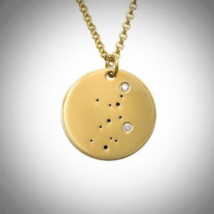 18ct Yellow Gold Plated Zodiac Virgo Constellation Diamond Necklace