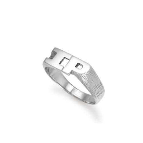9ct White Gold 5.0g Initial Ring